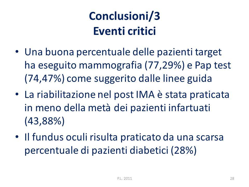 Conclusioni/3 Eventi critici