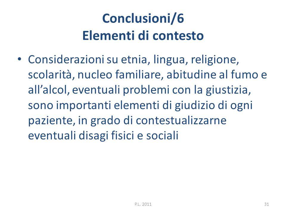 Conclusioni/6 Elementi di contesto