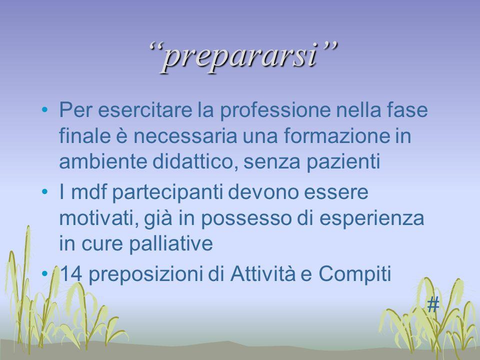 prepararsi Per esercitare la professione nella fase finale è necessaria una formazione in ambiente didattico, senza pazienti.