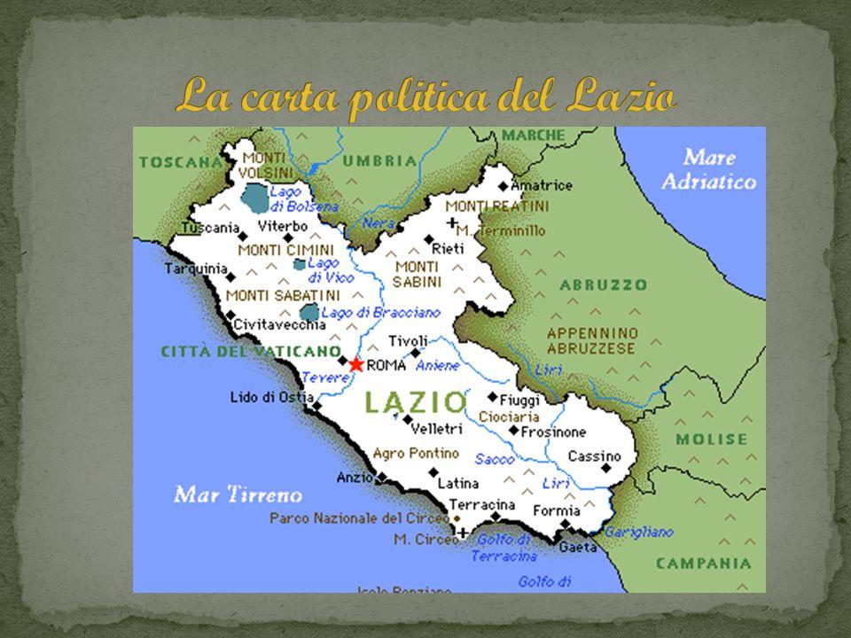 La carta politica del Lazio