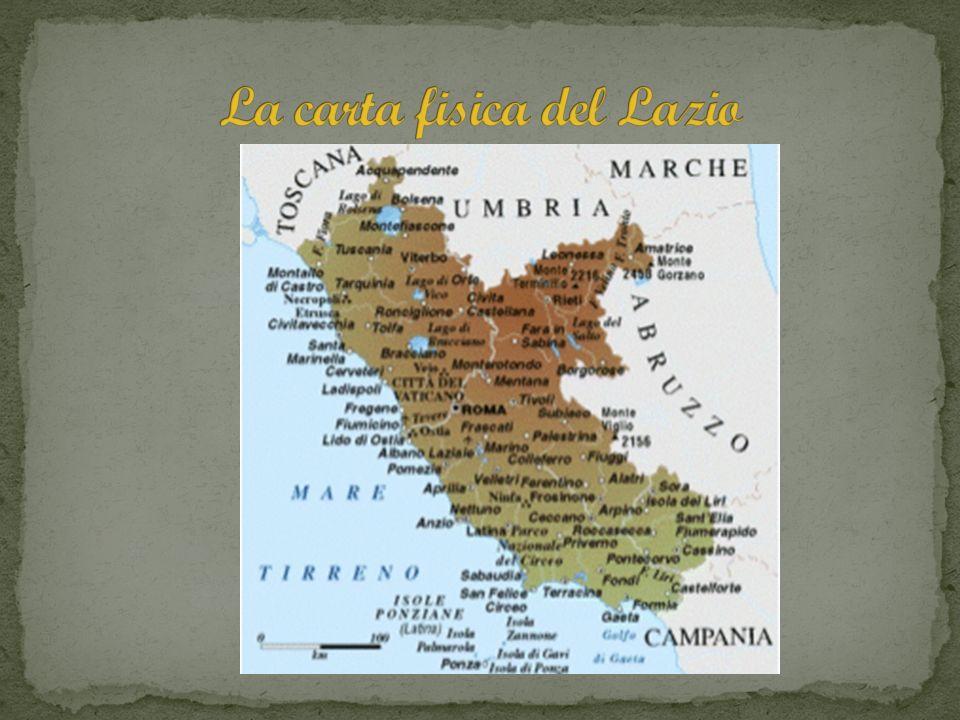 La carta fisica del Lazio