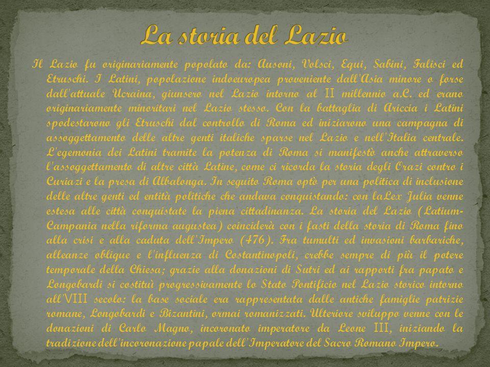 La storia del Lazio