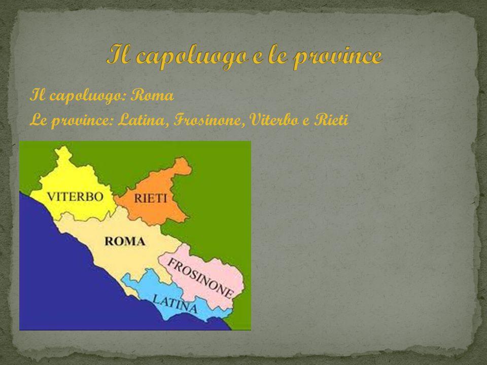 Il capoluogo e le province