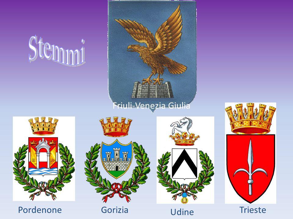 Stemmi Friuli-Venezia Giulia Pordenone Gorizia Trieste Udine