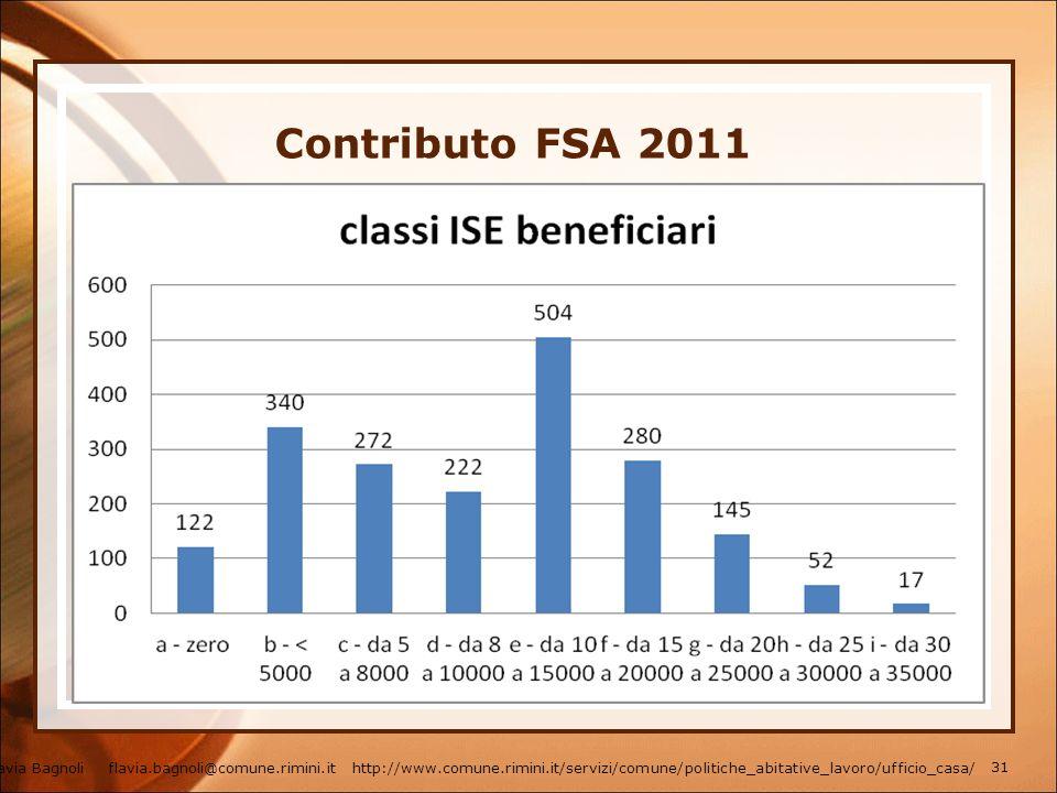 Contributo FSA 2011
