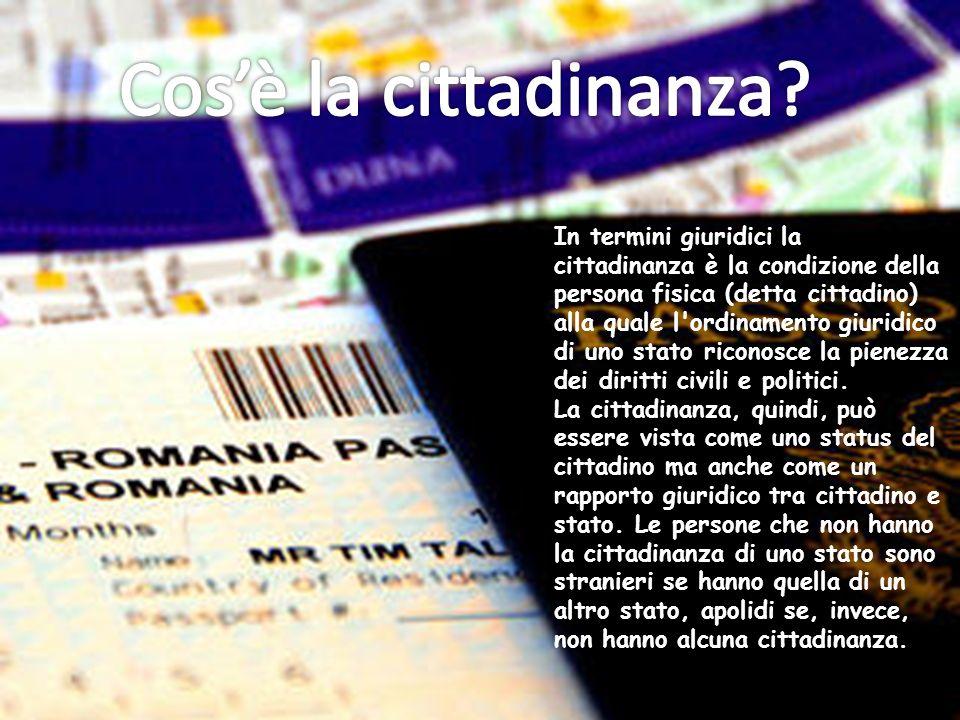 Cos'è la cittadinanza