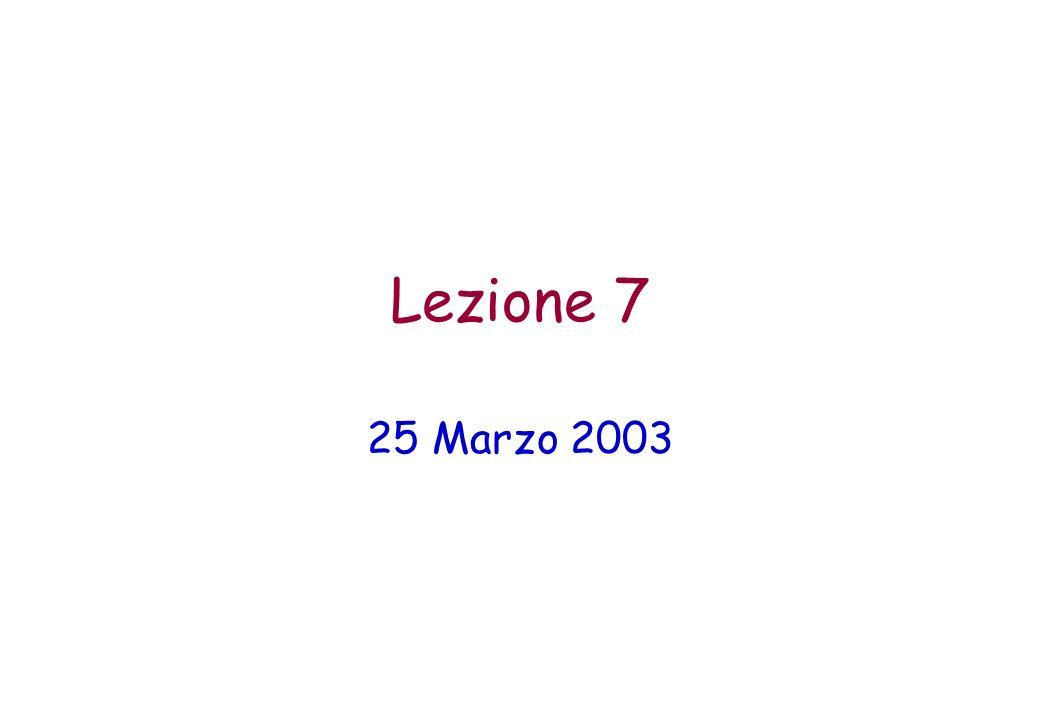 Lezione 7 25 Marzo 2003