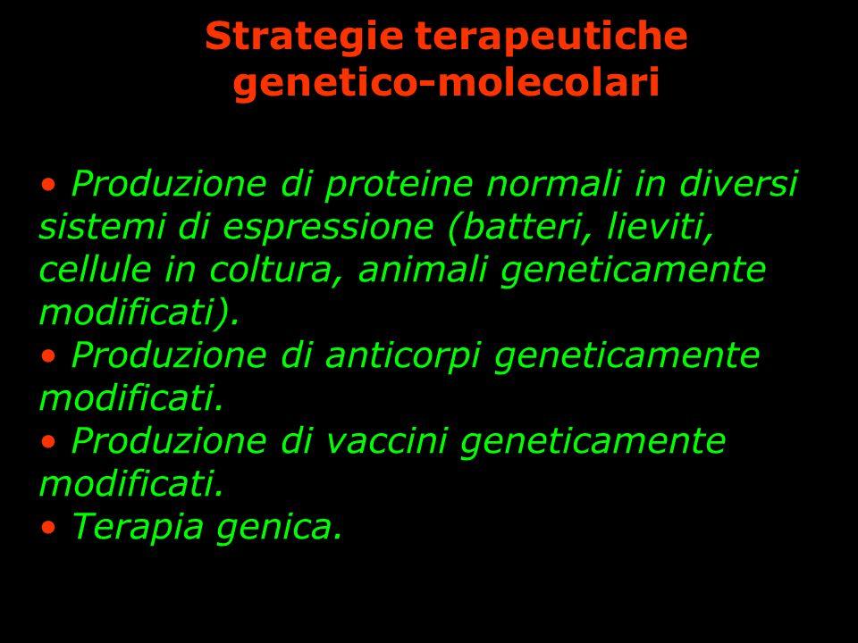 Strategie terapeutiche genetico-molecolari