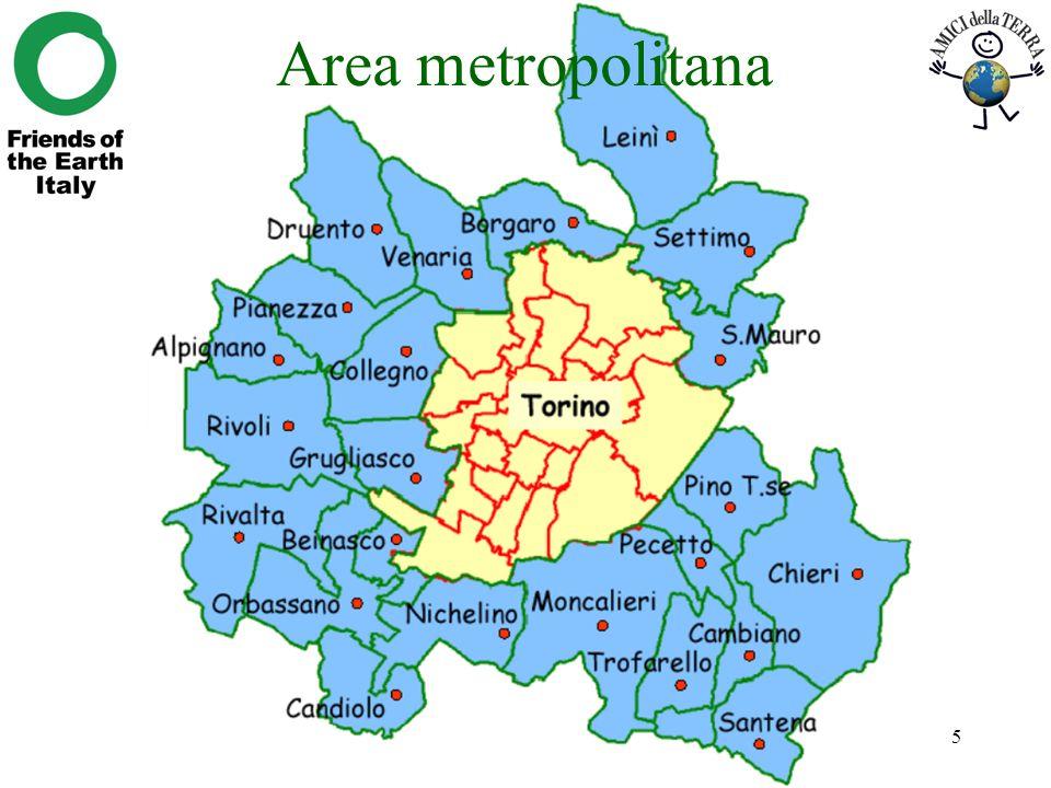 Area metropolitana Richiardi, I costi esterni della mobilità metropolitana a Torino
