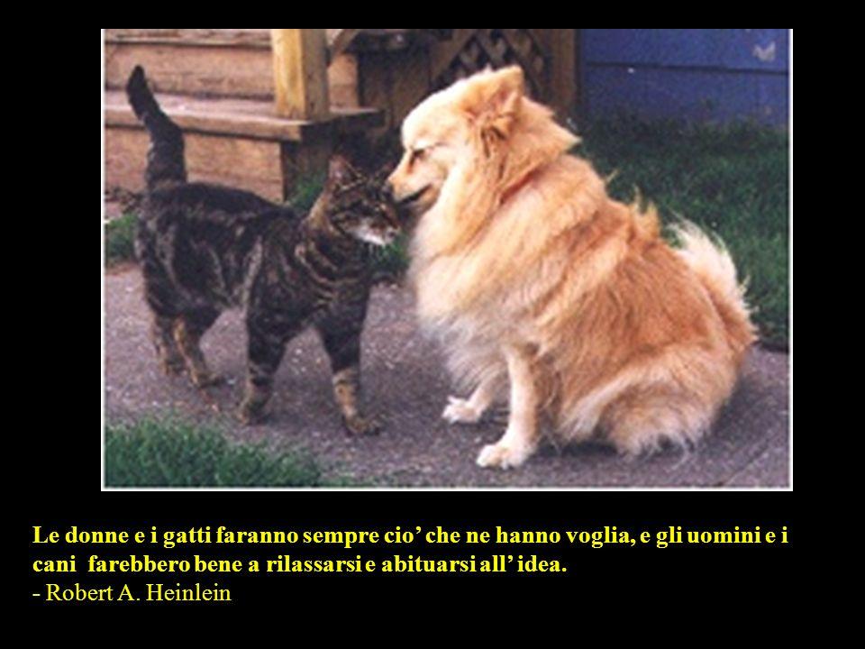 Le donne e i gatti faranno sempre cio' che ne hanno voglia, e gli uomini e i cani farebbero bene a rilassarsi e abituarsi all' idea.