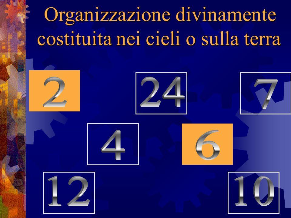 Organizzazione divinamente costituita nei cieli o sulla terra
