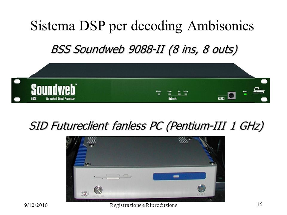 Sistema DSP per decoding Ambisonics