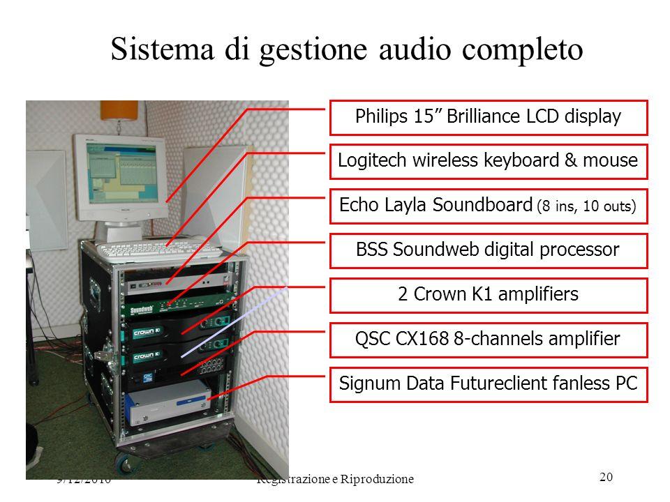 Sistema di gestione audio completo