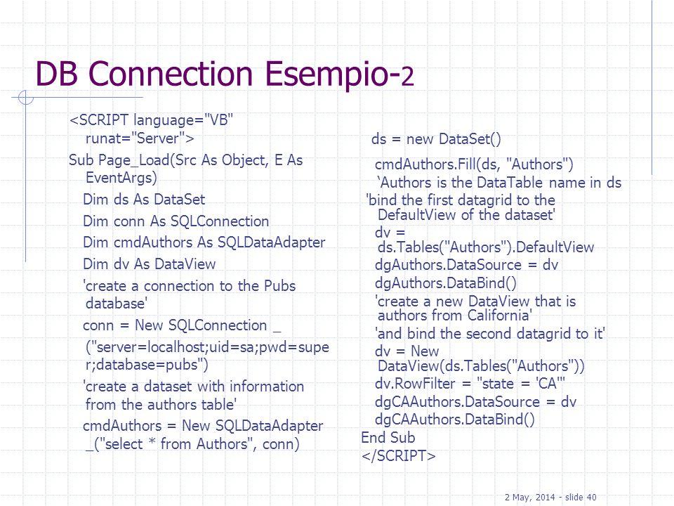 DB Connection Esempio-2