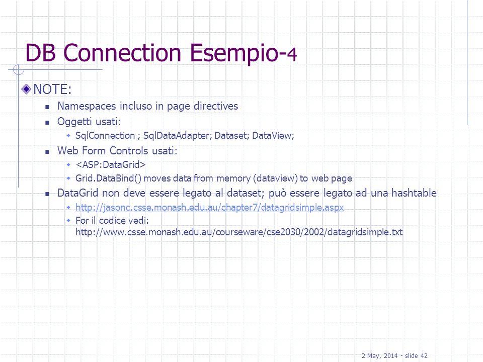 DB Connection Esempio-4