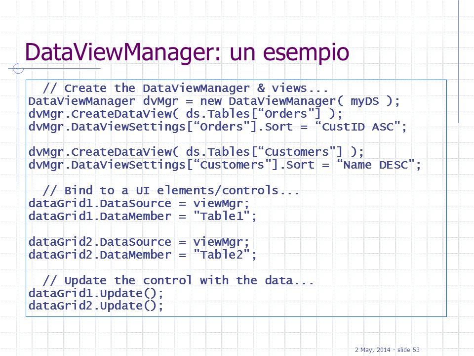 DataViewManager: un esempio