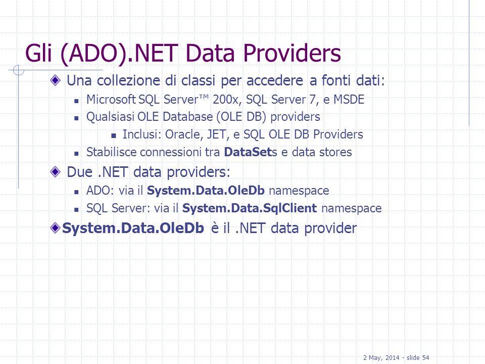Gli (ADO).NET Data Providers