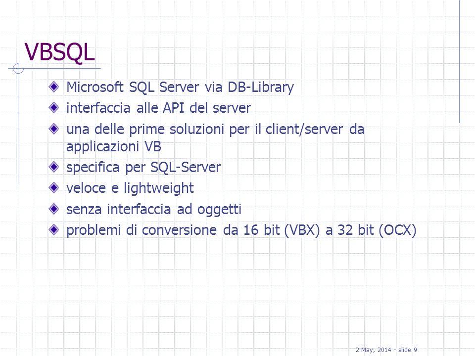 VBSQL Microsoft SQL Server via DB-Library
