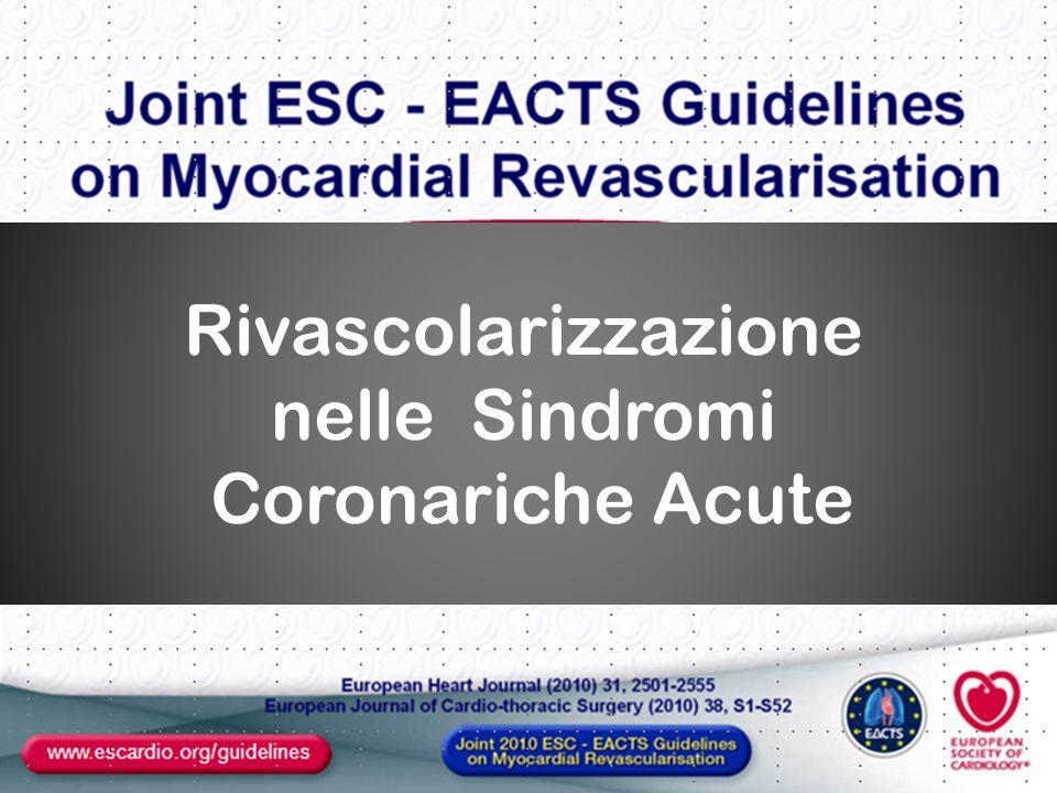 Rivascolarizzazione nelle Sindromi Coronariche Acute