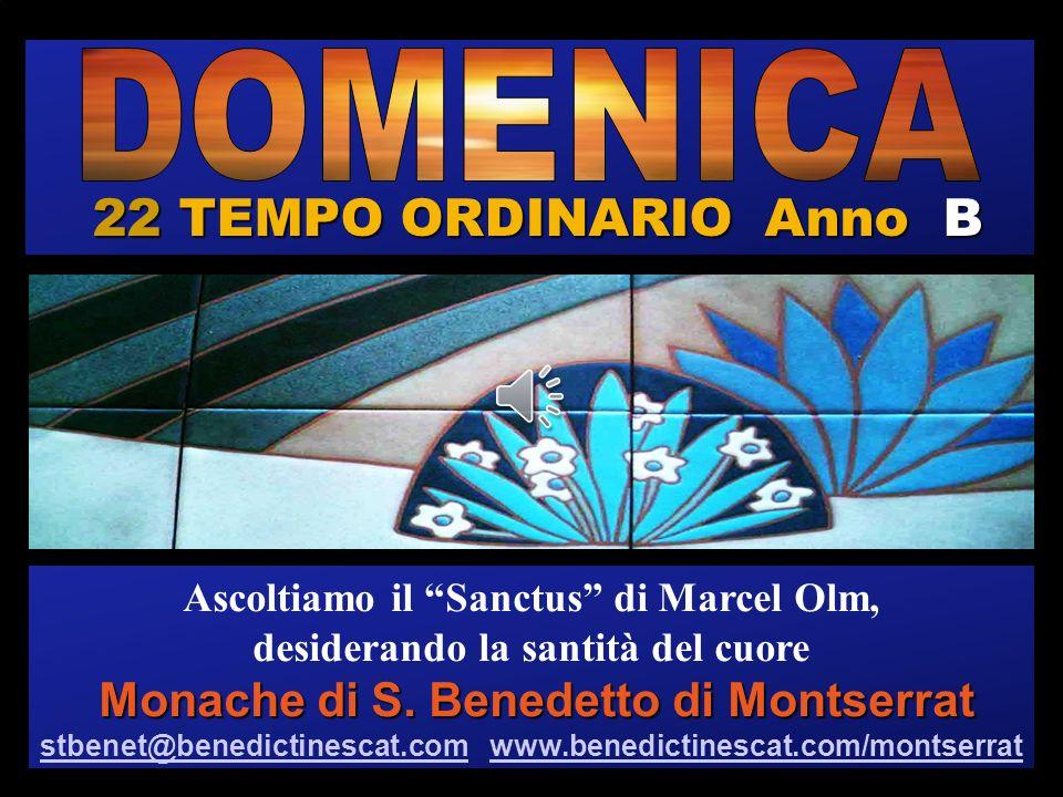 22 TEMPO ORDINARIO Anno B DOMENICA