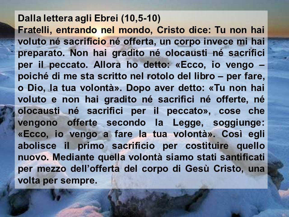Dalla lettera agli Ebrei (10,5-10)
