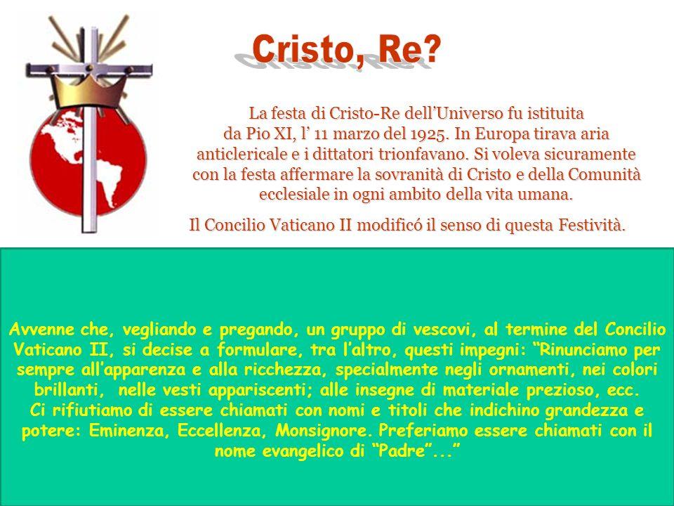 Cristo, Re