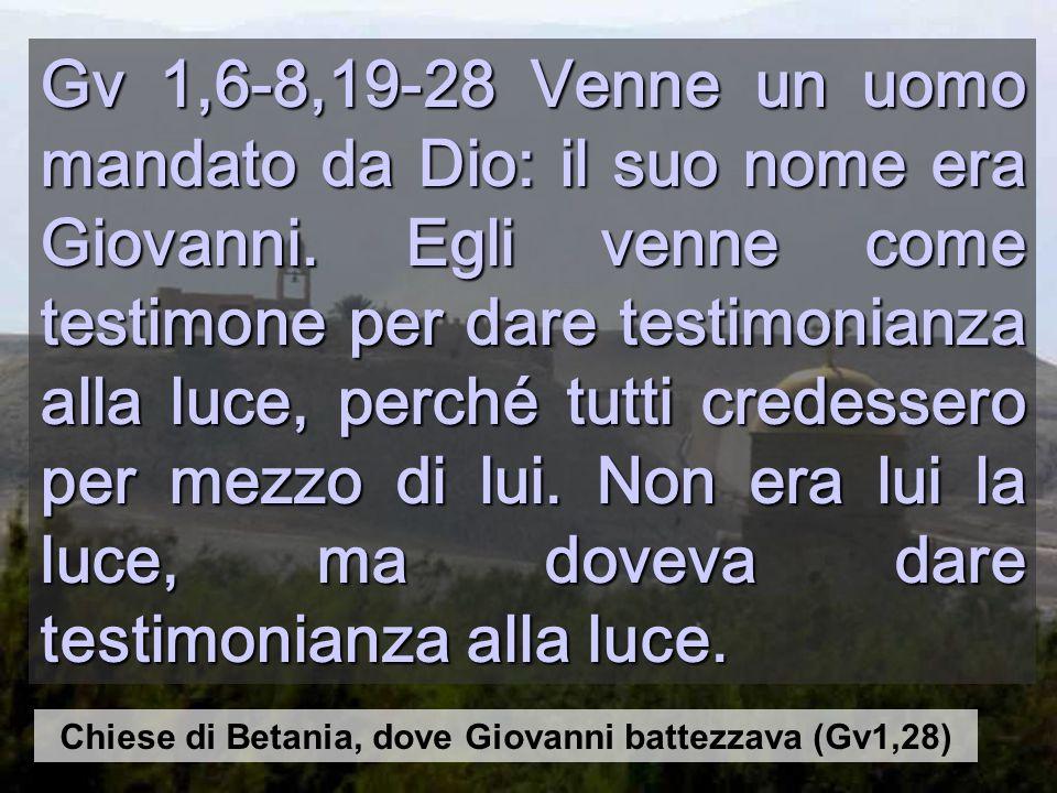 Chiese di Betania, dove Giovanni battezzava (Gv1,28)