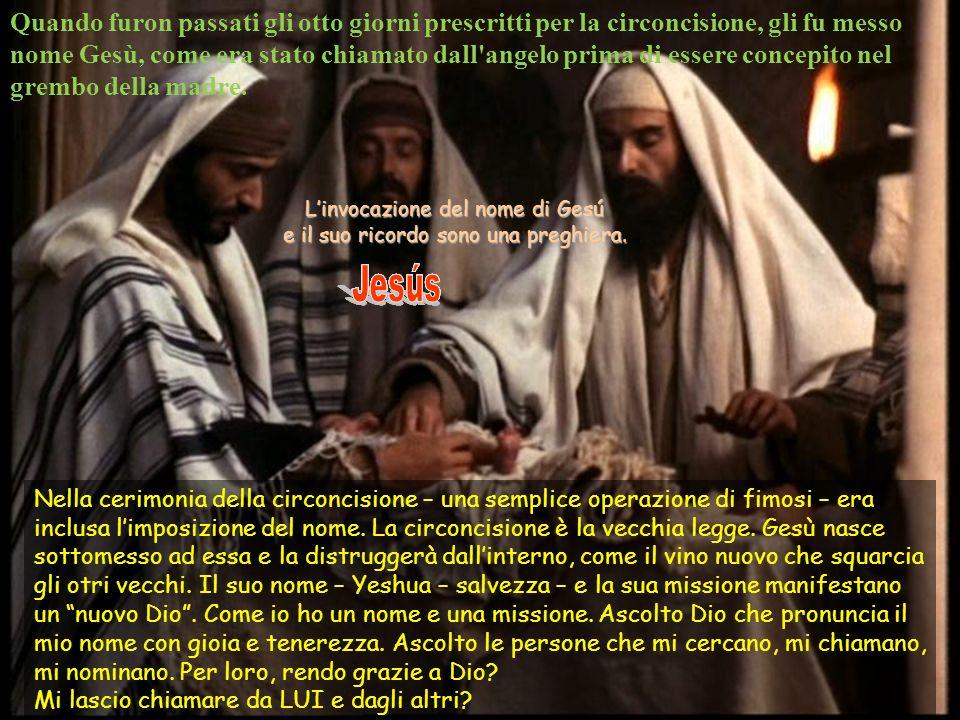 L'invocazione del nome di Gesú e il suo ricordo sono una preghiera.