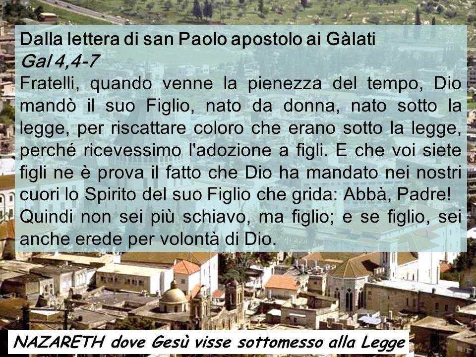 Dalla lettera di san Paolo apostolo ai Gàlati Gal 4,4-7