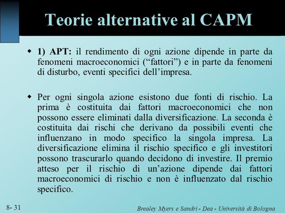Teorie alternative al CAPM