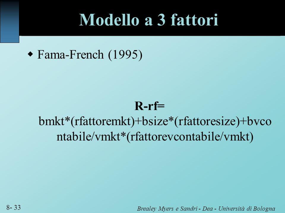 Modello a 3 fattori Fama-French (1995)