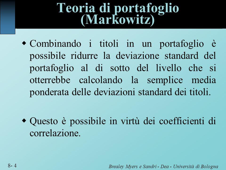 Teoria di portafoglio (Markowitz)