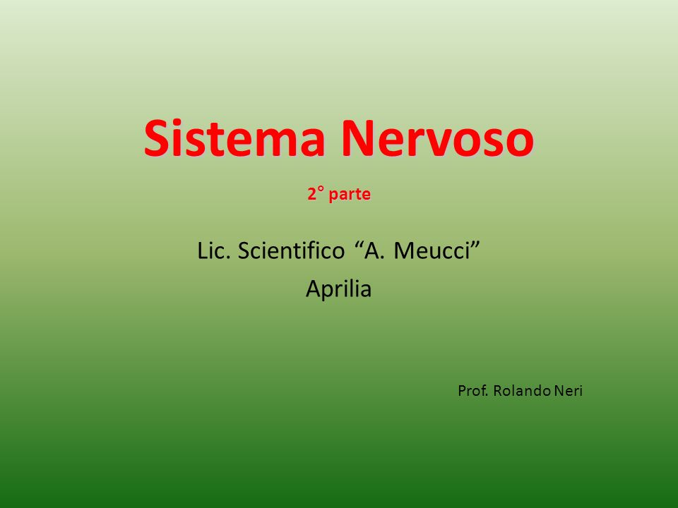 Lic. Scientifico A. Meucci