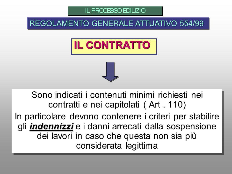 REGOLAMENTO GENERALE ATTUATIVO 554/99
