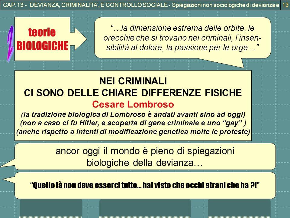 2 teorie BIOLOGICHE NEI CRIMINALI