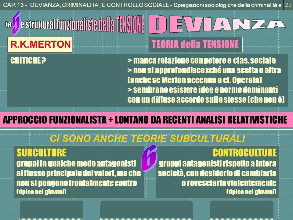 teorie struttural funzionaliste della TENSIONE