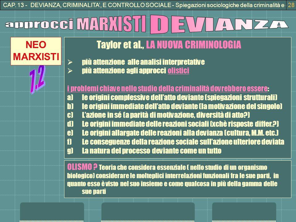 approcci MARXISTI DEVIANZA 7.2 NEO MARXISTI