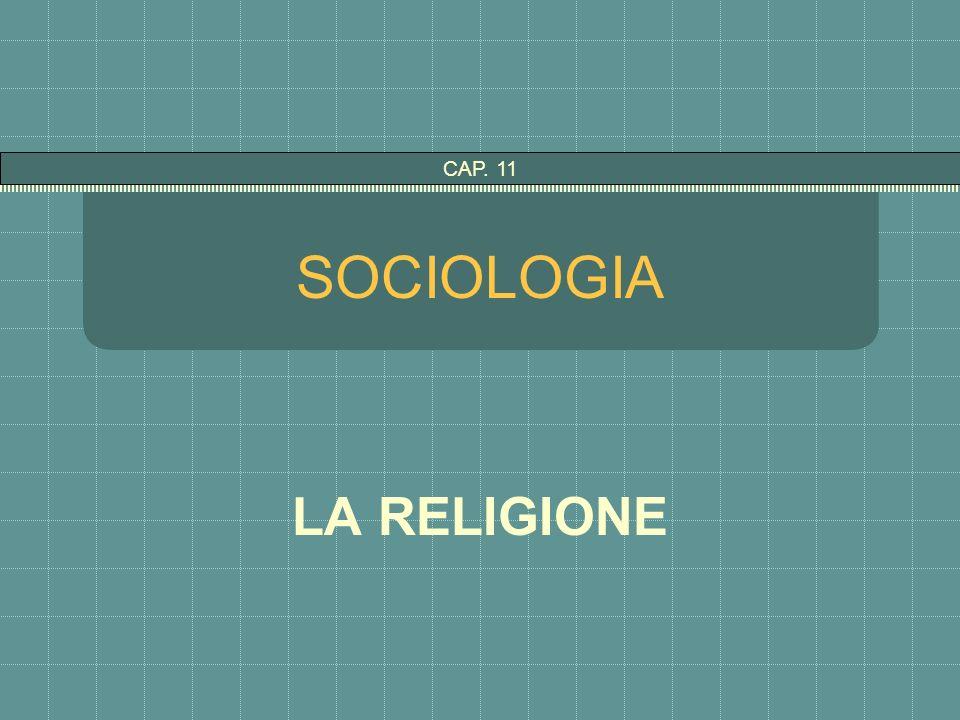 CAP. 11 SOCIOLOGIA LA RELIGIONE