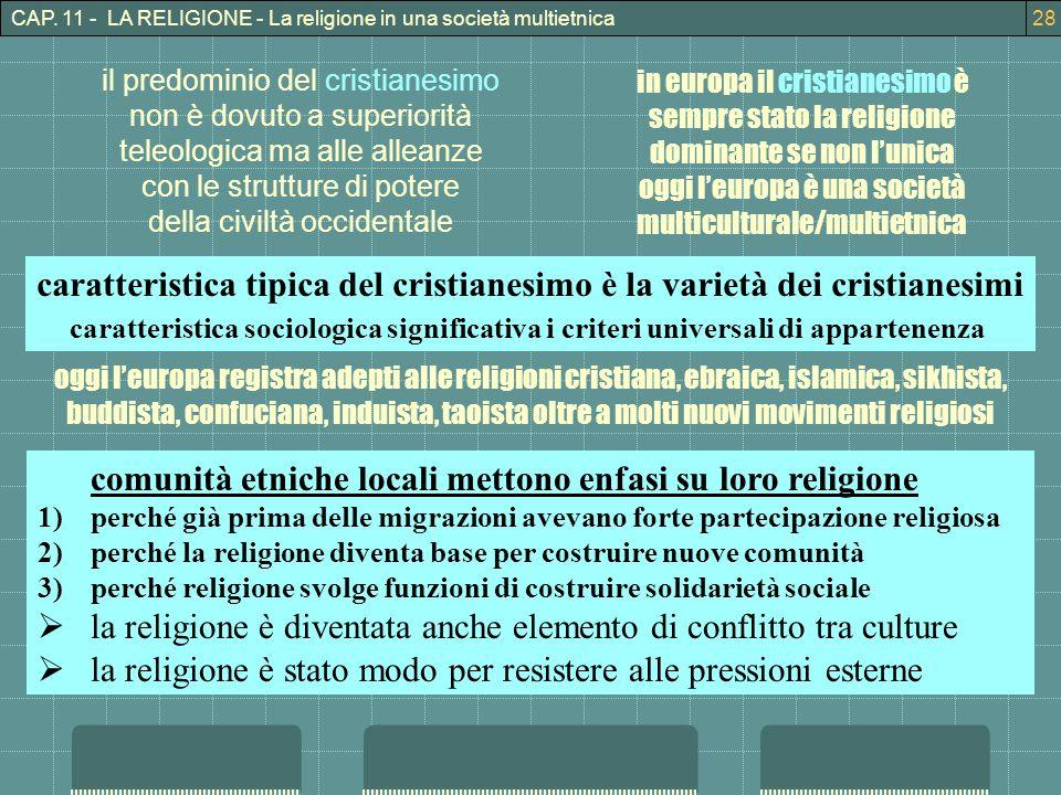 caratteristica tipica del cristianesimo è la varietà dei cristianesimi