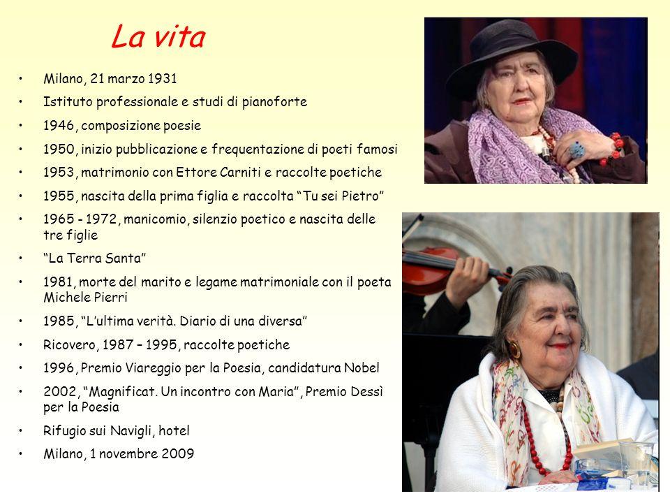 La vita Milano, 21 marzo 1931. Istituto professionale e studi di pianoforte. 1946, composizione poesie.