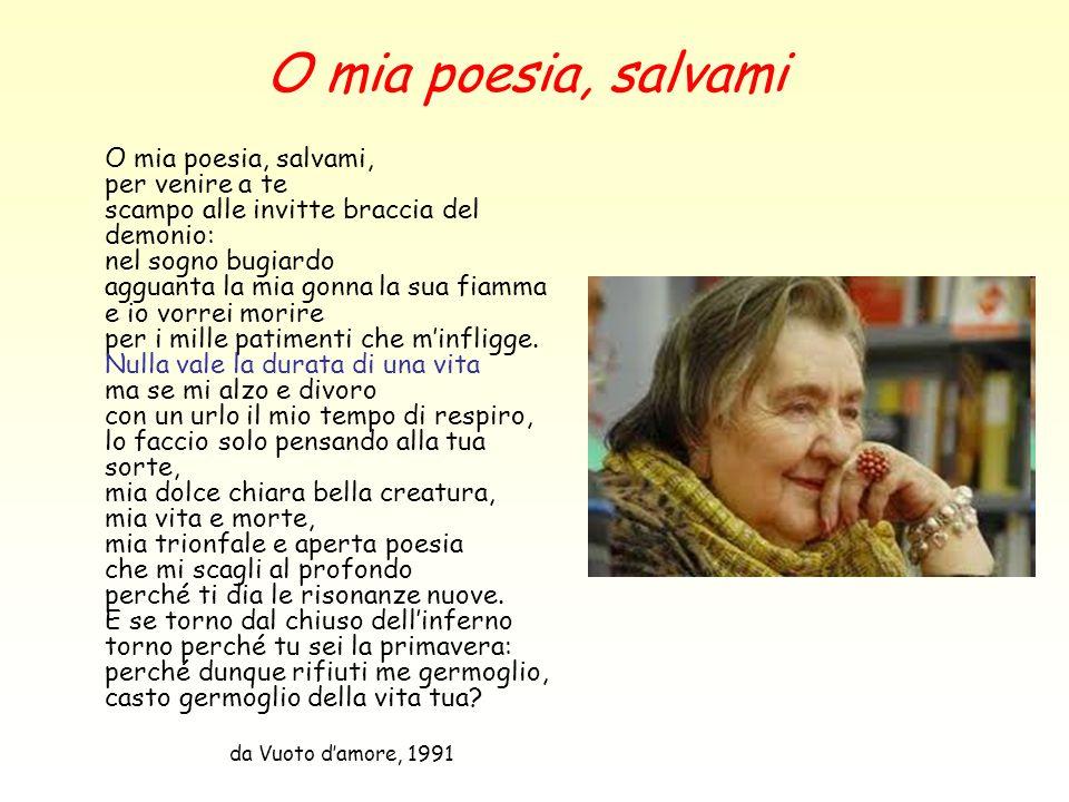 O mia poesia, salvami