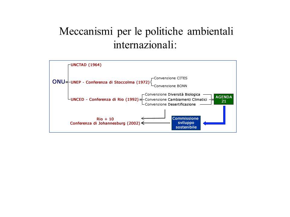 Meccanismi per le politiche ambientali internazionali: