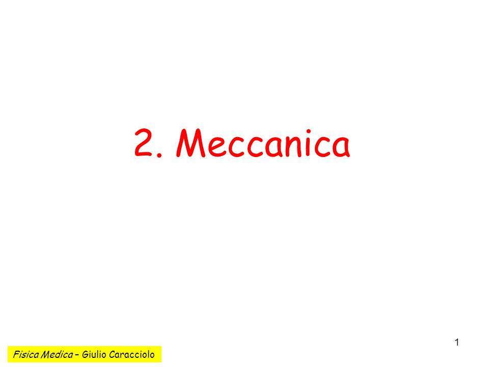 2. Meccanica Fisica Medica – Giulio Caracciolo
