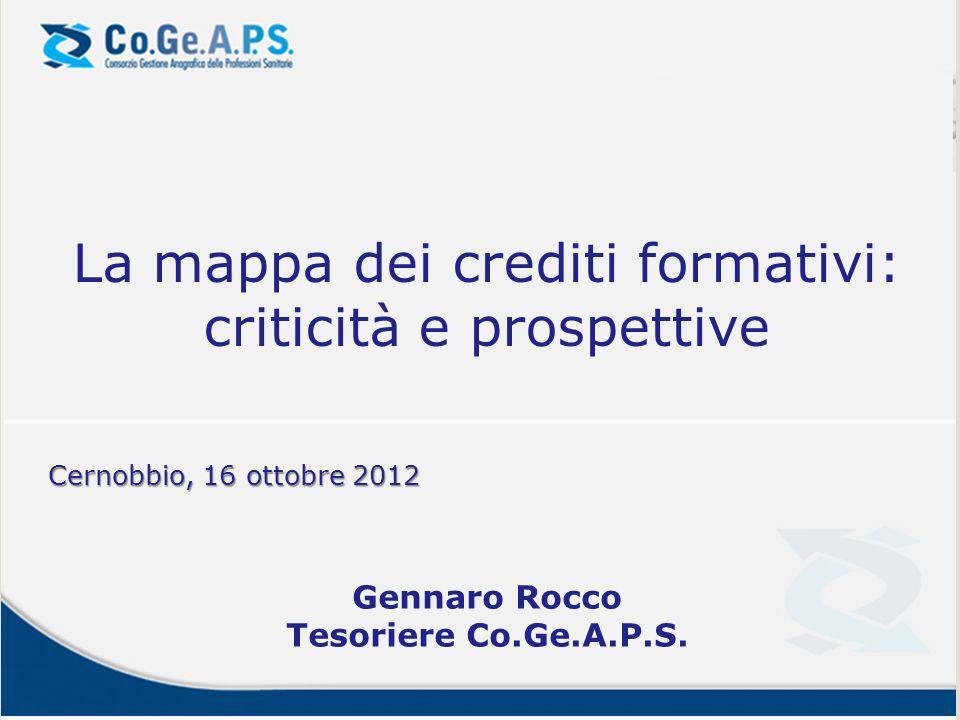 La mappa dei crediti formativi: criticità e prospettive