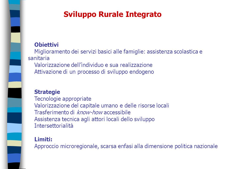 Sviluppo Rurale Integrato