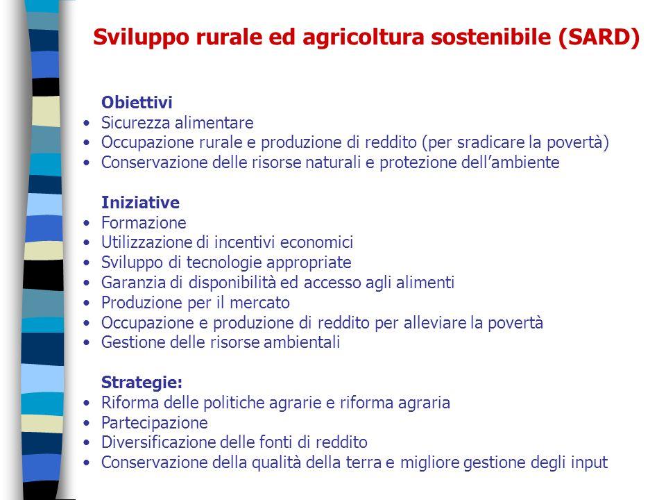 Sviluppo rurale ed agricoltura sostenibile (SARD)