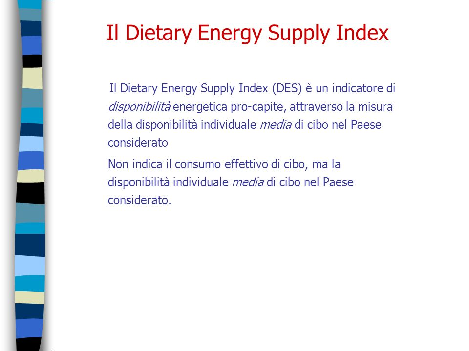 Il Dietary Energy Supply Index