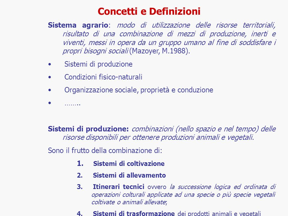 Concetti e Definizioni