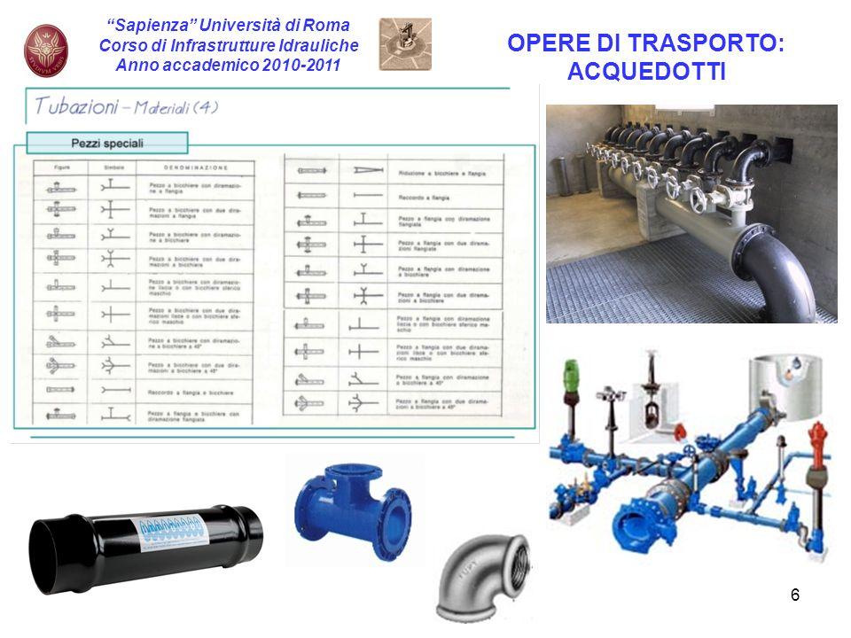 Corso di Infrastrutture Idrauliche