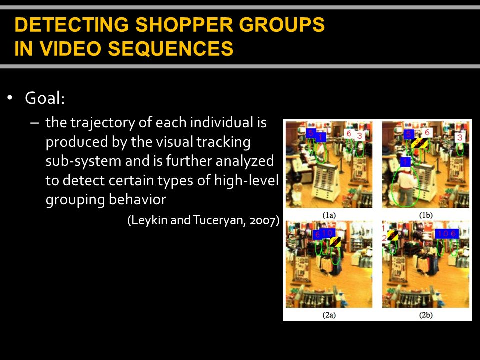 DETECTING SHOPPER GROUPS IN VIDEO SEQUENCES